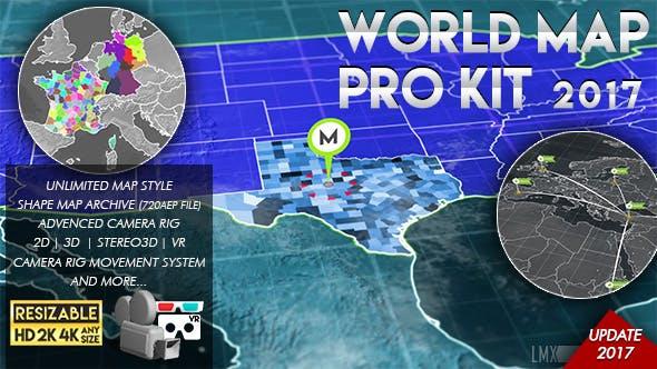 World Map Pro Kit By Limxona Videohive