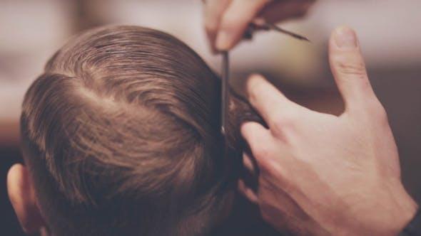 Children Haircut Little Boy Hairdressing Children Hairdresser Child