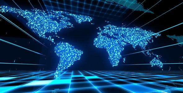 Digital World Map By As 100 Videohive