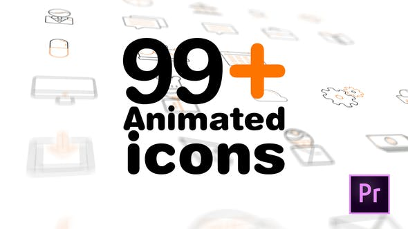 99+ Icons Mogrt - VideoHive product image