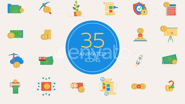 CryptoCurrency Animated Icons Pack - VideoHive product image