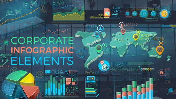 Colorful Corporate Infographic Elements - VideoHive product image