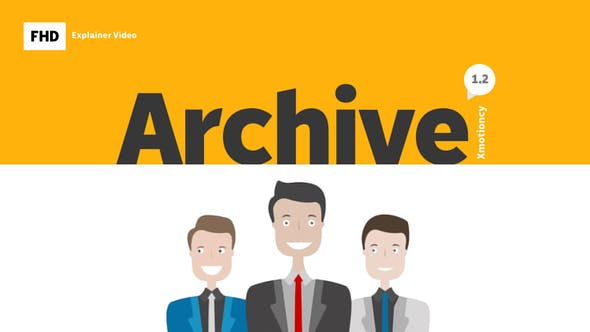 Archive Explainer Infographic - VideoHive product image