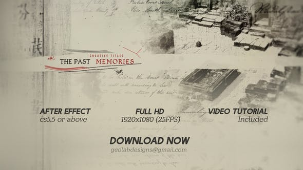 The Past Memories - VideoHive product image