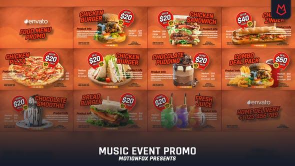 Food Menu Promo - VideoHive product image