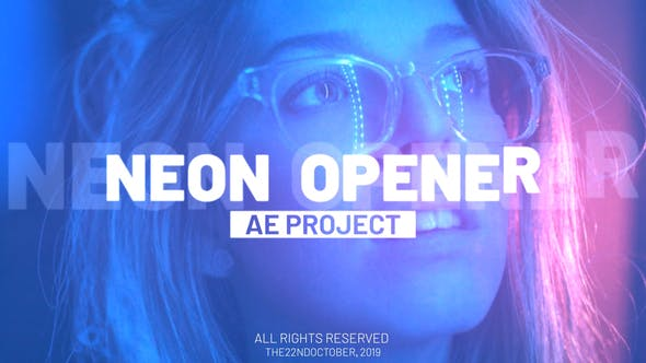 Fast Neon Opener - VideoHive product image