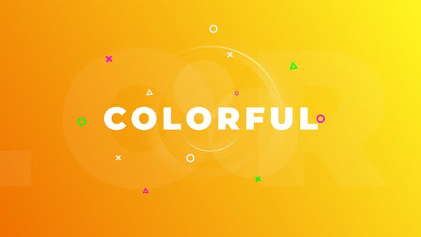 Colorful Logo Opener - VideoHive product image