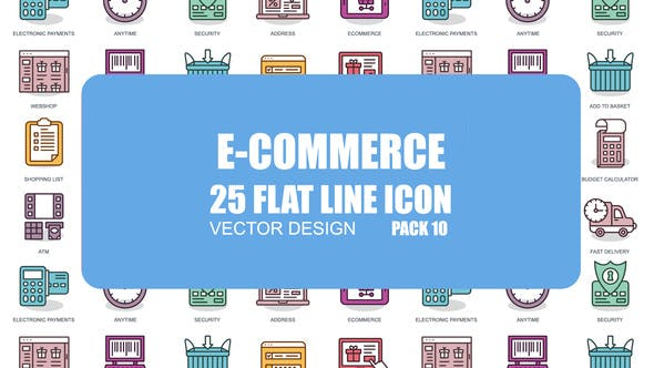 E-Commerce - Flat Animation Icons - VideoHive product image