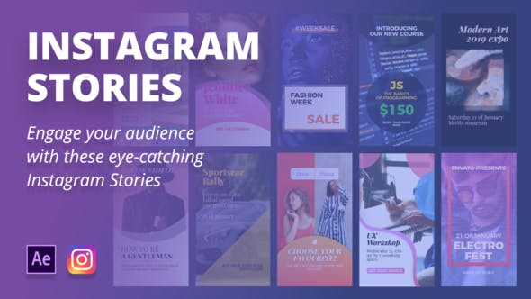 Engaging Instagram Stories - VideoHive product image