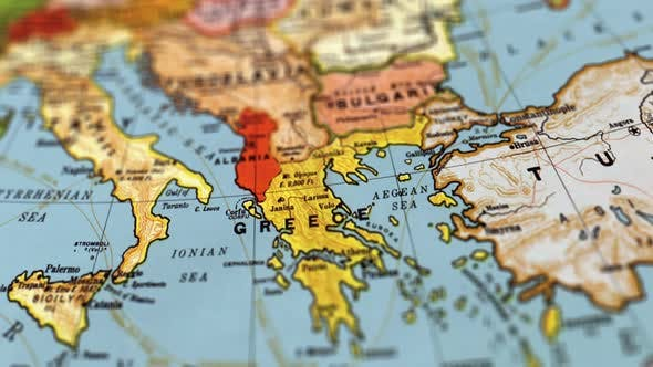 Greece World Map By Footagestock Videohive