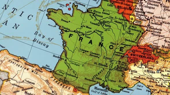 France On World Map by FootageStock | VideoHive